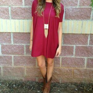 Tops - Piko Burgundy Fall Tunic Dress